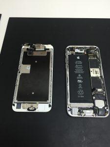 iPhone6s 洗浄後装着時