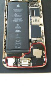 iPhone6ドッグコネクタ修理③