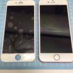 千葉県船橋市習志野台よりiPhone6s 画面ガラス割れ交換修理のご依頼です。