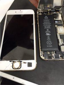 千葉県白井市よりiPhone6・5s 画面ガラス割れ・バッテリー交換修理でご来店です。
