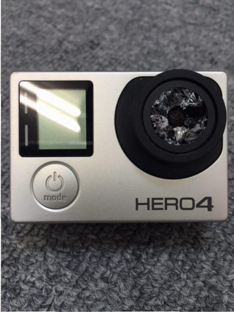 東京都大田区からGoPro修理!HERO4 カメラレンズ割れ交換修理。