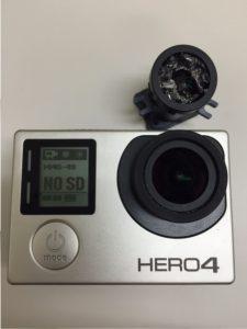 GoPro HERO4 レンズ交換