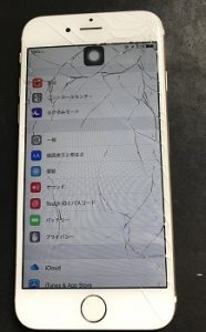 千代田区よりリペアくん金町店にiPhone6のガラス交換でご来店