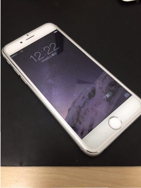千葉県白井市よりiPhone修理のリペアくん本八幡店にiPhone6sの画面交換のお客様ご来店です。保護ガラス貼付け